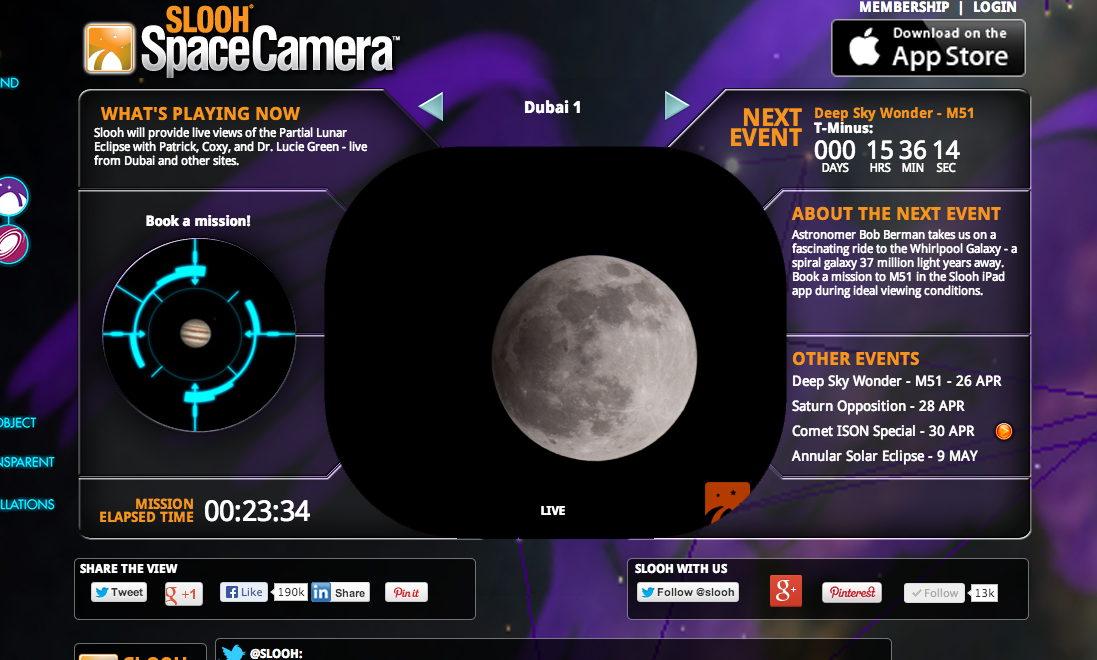 Partial Lunar Eclipse, April 25, 2013