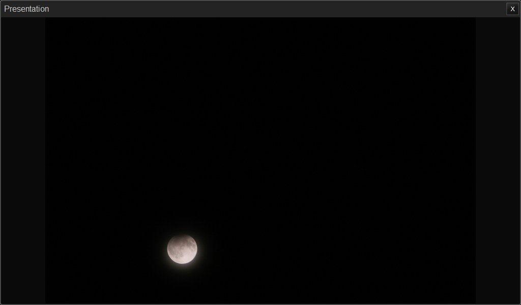 Partial Lunar Eclipse Wider View