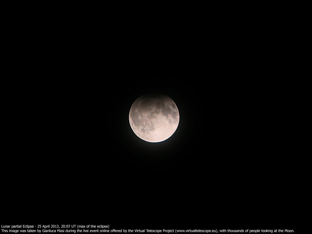 Virtual Telescope Project 2.0 View of the Partial Lunar Eclipse