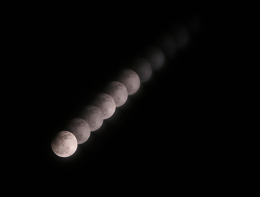 Virtual Telescope Project's Partial Lunar Eclipse Sequence