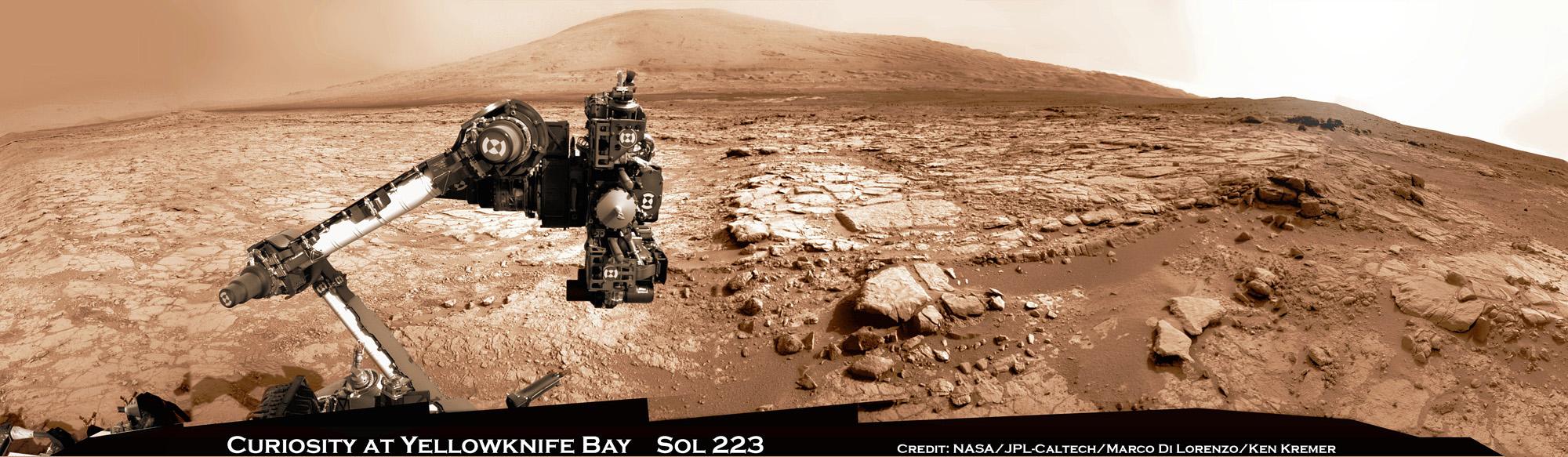 Curiosity Panorama at John Klein Drill Site