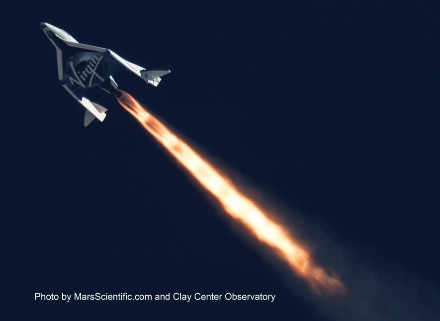 Virgin Galactic SpaceShipTwo Blasts Into the Upper Atmosphere 1024