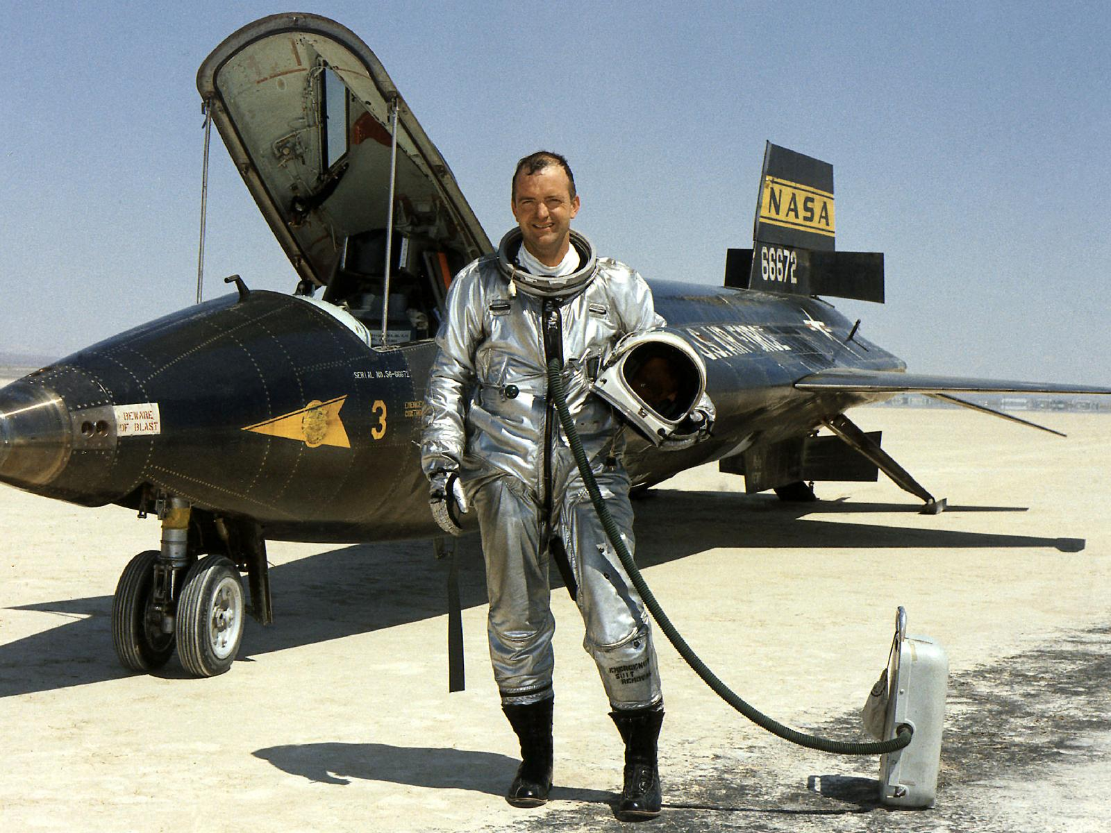 NASA's Bill Dana Next to X-15