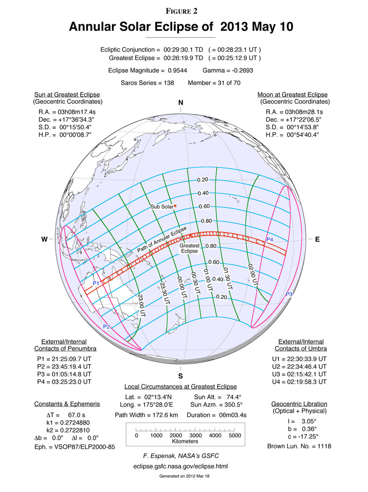 Annular Solar Eclipse of May 10, 2013