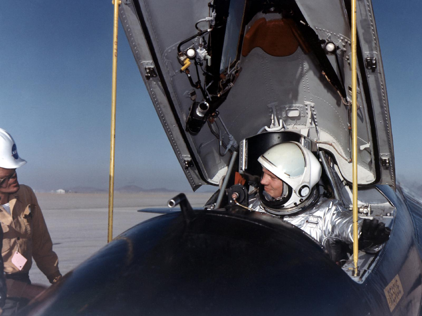 Neil Armstrong in X-15 Cockpit