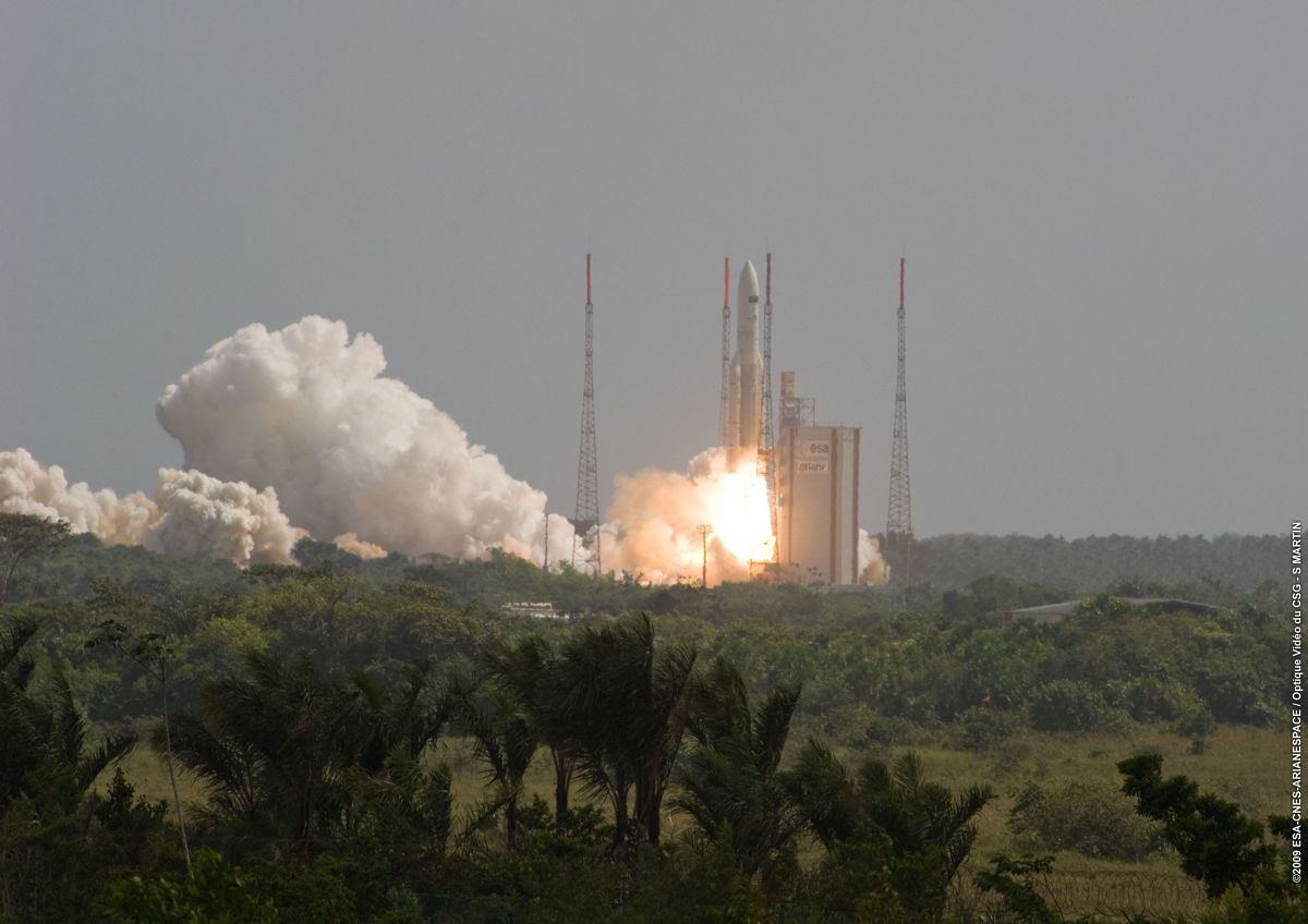 Ariane 5 Rocket Launches Herschel and Planck Satellites