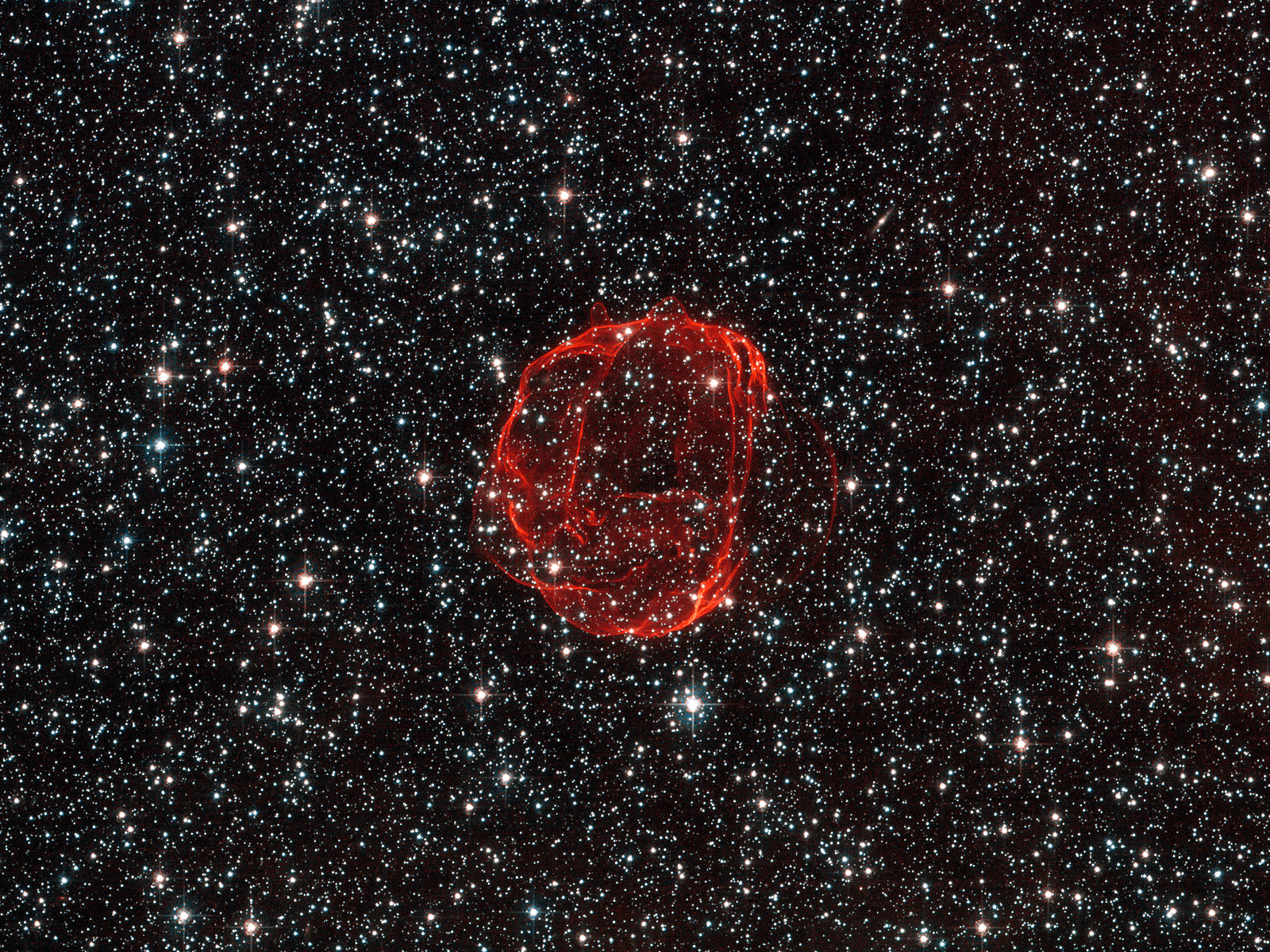 Remains of Star Supernova SNR 0519 space wallpaper