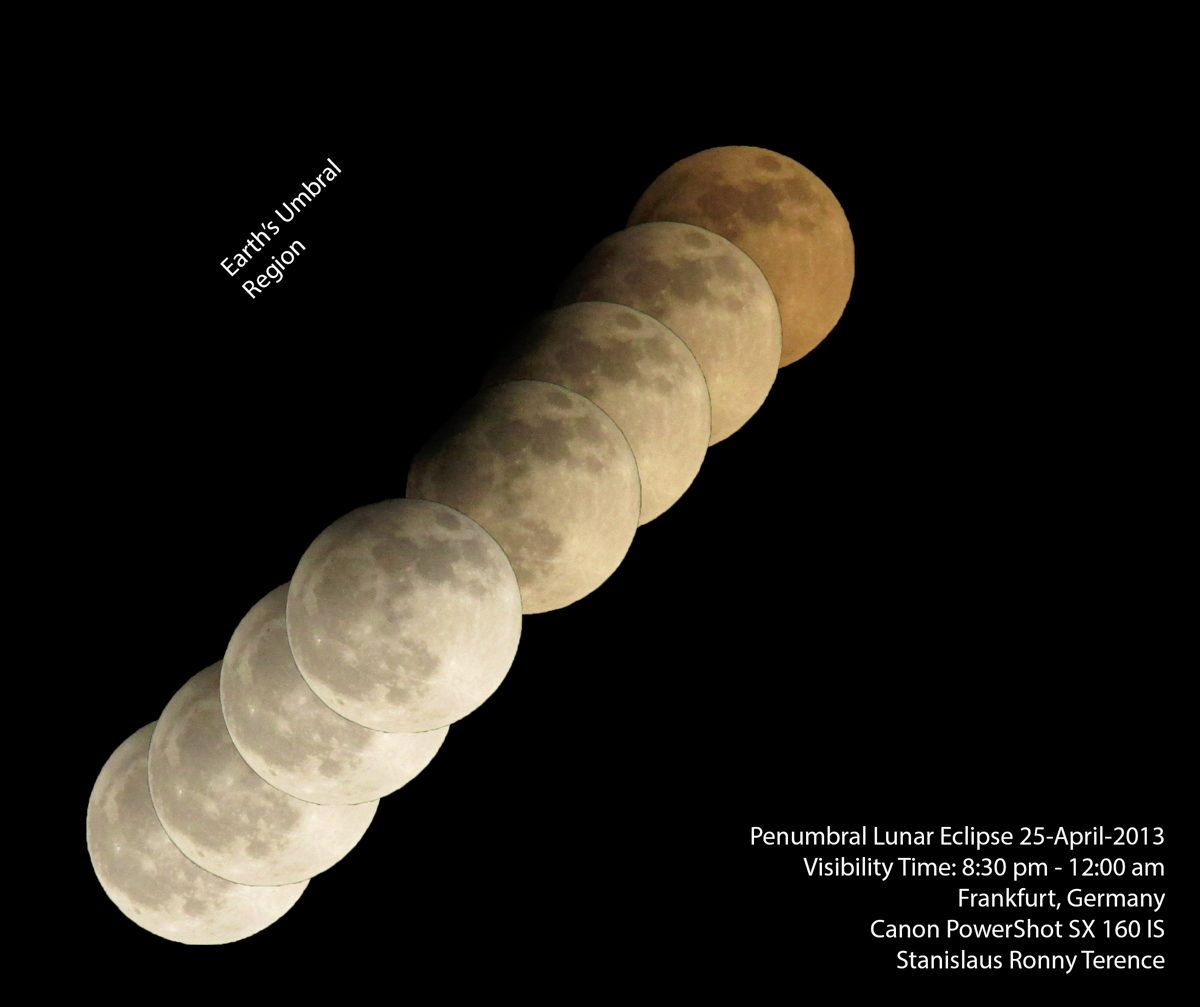 Penumbral Lunar Eclipse Seen in Frankfurt, Germany