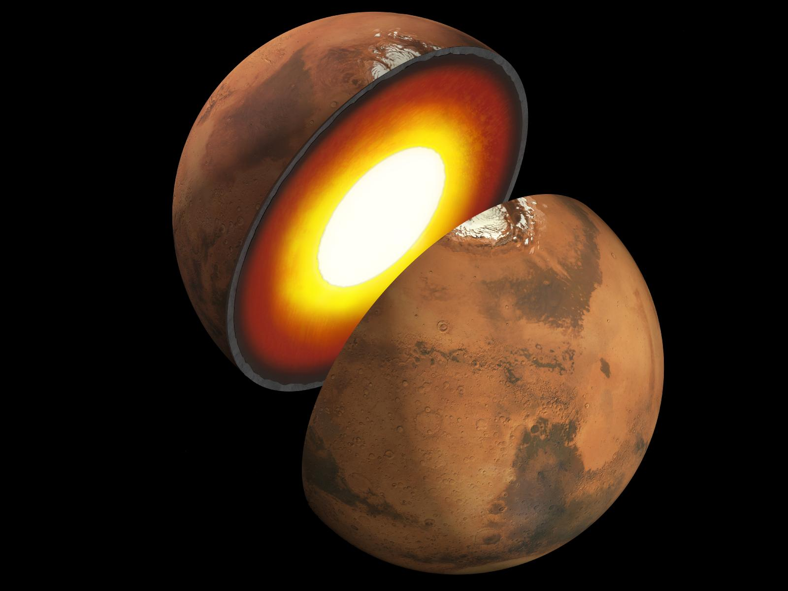 Interior of Mars Artist Rendition