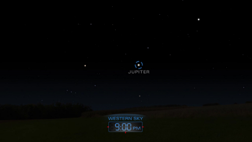 Sky Map of Jupiter for Early May, 2013