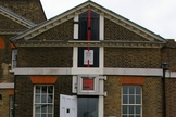 The prime meridian at the Royal Observatory at Greenwich.