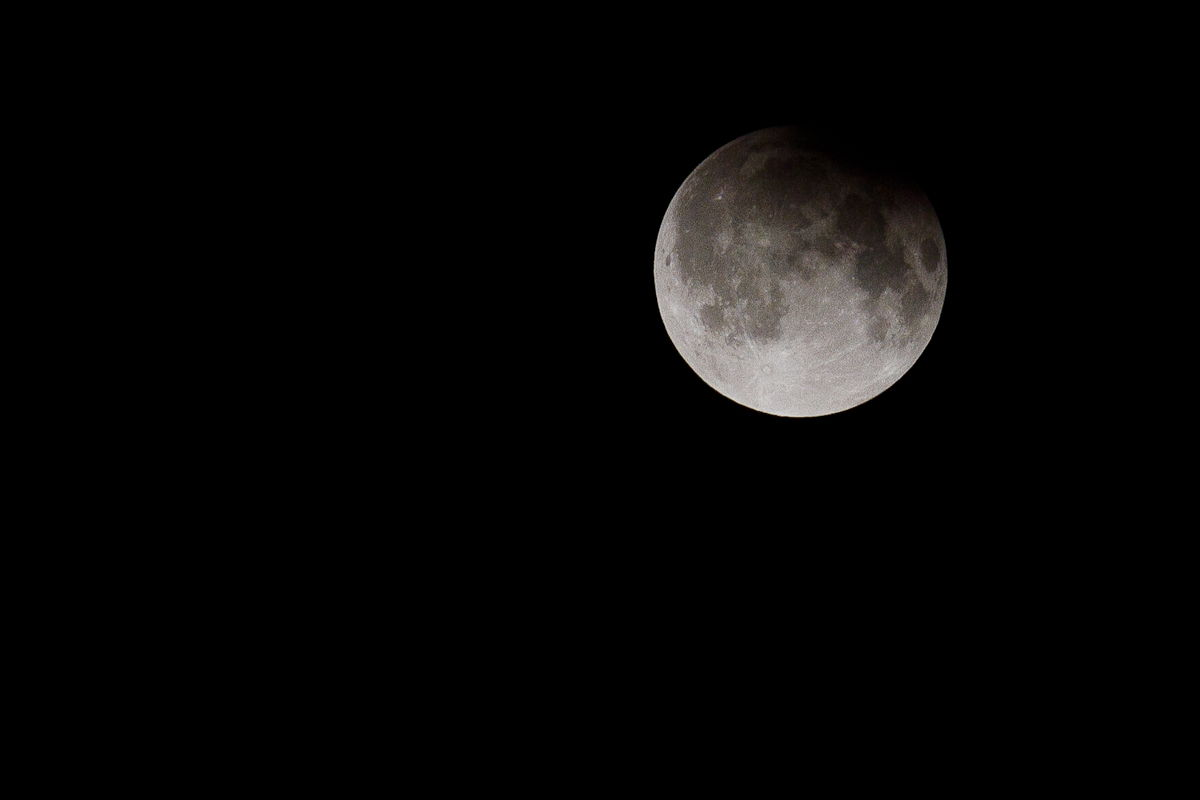Penumbral Lunar Eclipse Seen in New Delhi