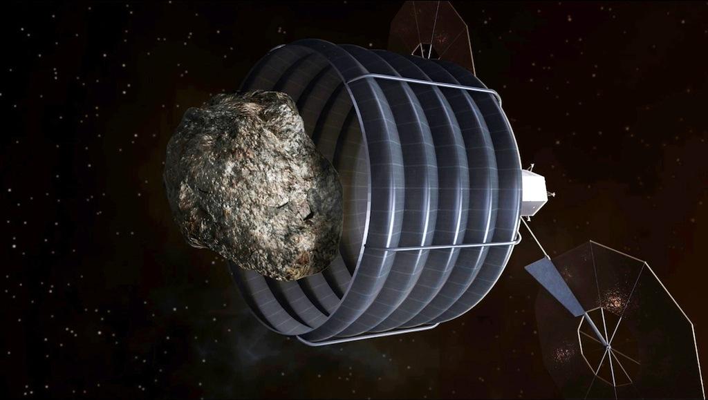 Asteroid Capturing Spacecraft Concept