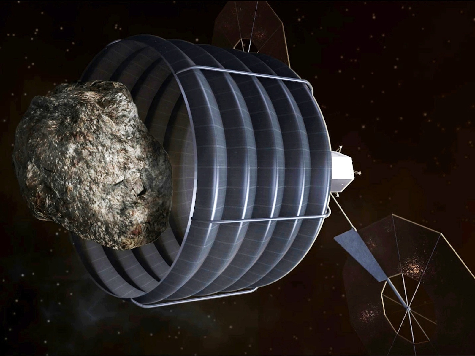 Asteroid Capturing Spacecraft Concept space wallpaper