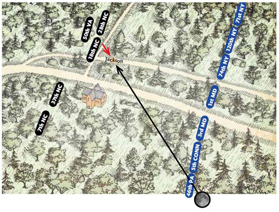 Battle of Chancellorsville Map