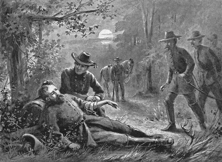 General A. P. Hill Binds the Wounds of Stonewall Jackson