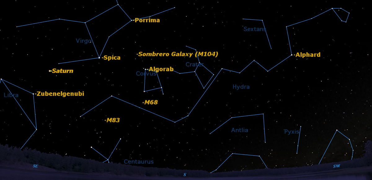 See a Celestial Circus Below Saturn This Week
