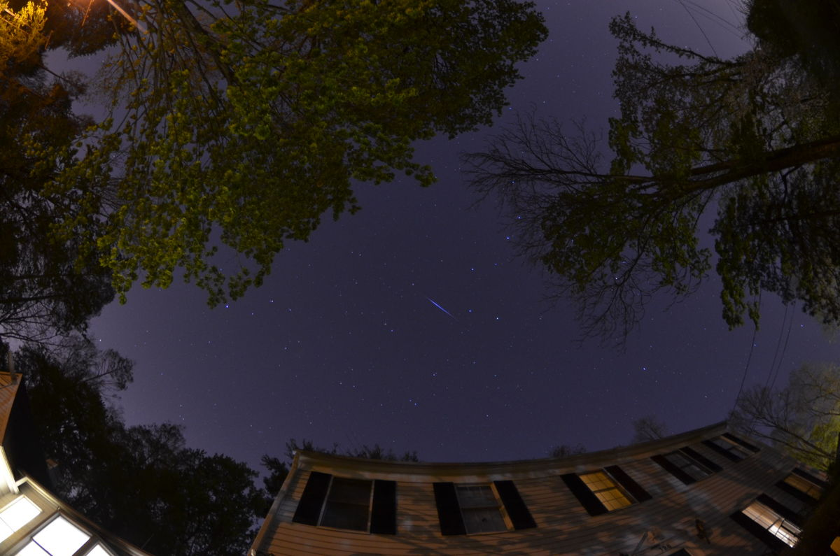 2013 Eta Aquarid Meteor Over Greenwich, CT