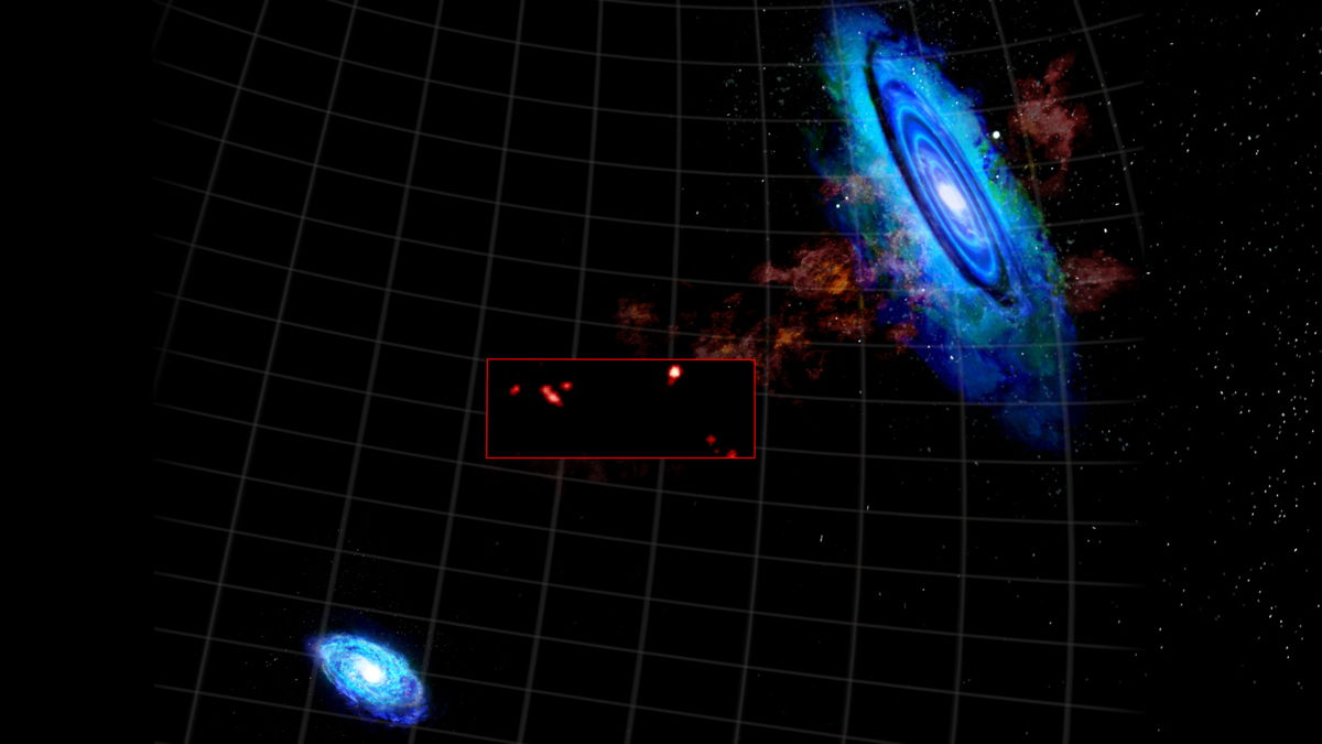 Hydrogen Clouds Between the Andromeda Galaxy M31 and Triangulum Galaxy M33