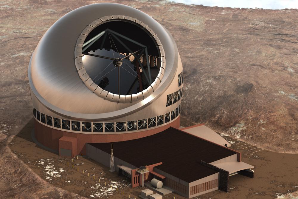 Thirty Meter Telescope Top View