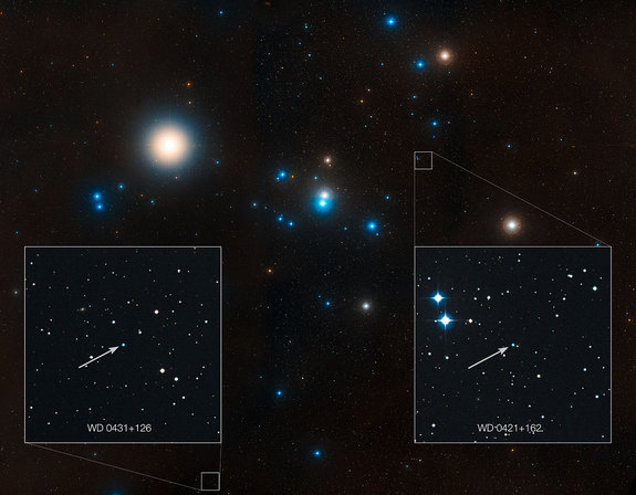 This image shows the region around the Hyades star cluster, the nearest open cluster to us. The Hyades cluster is very well-studied due to its location, but previous searches for planets have produced only one.