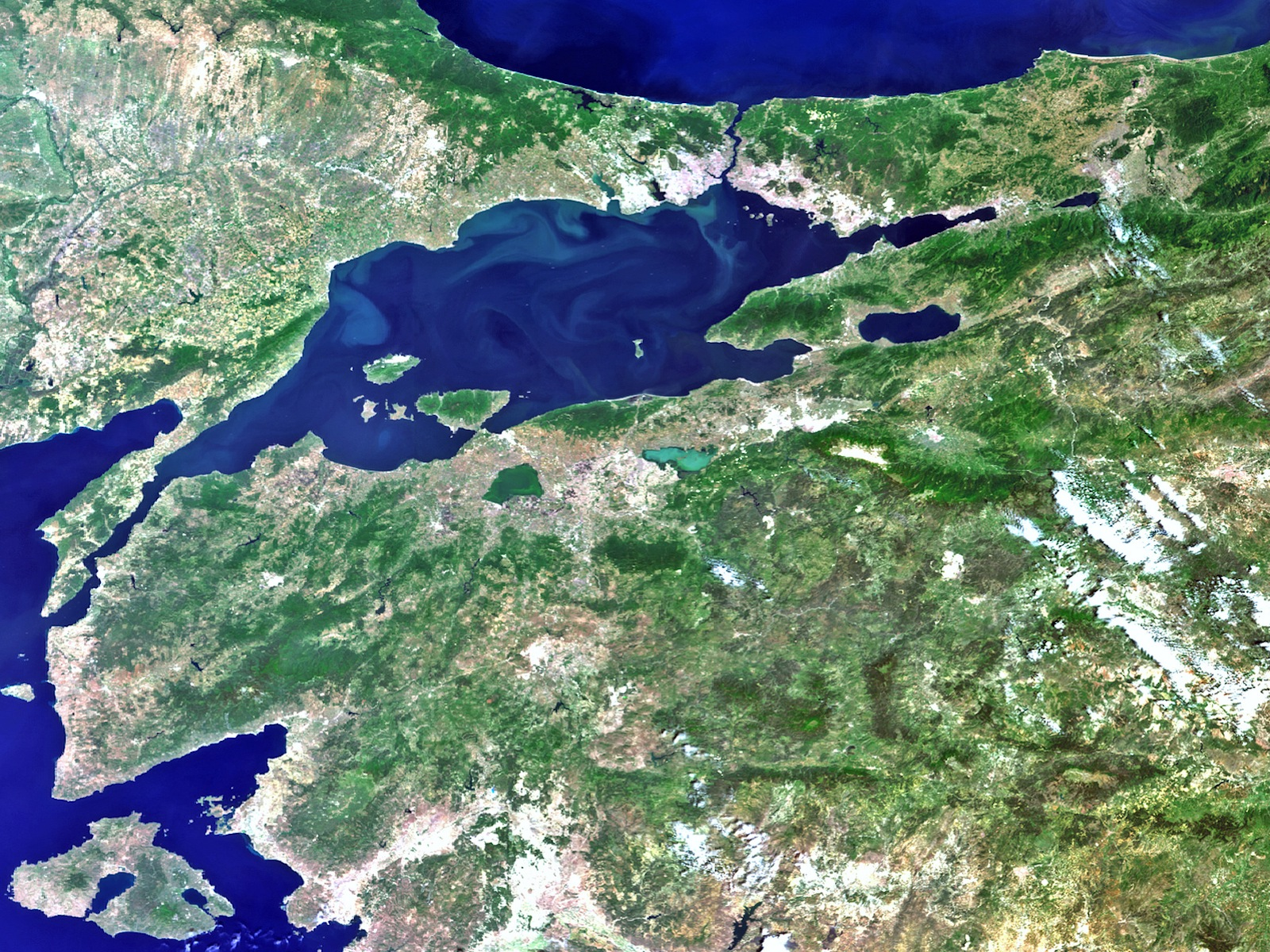 Istanbul Earth From Space space wallpaper