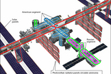 "The ammonia system is one of several cooling loops that circulate liquids throughout the International Space Station. <a href=""http://www.space.com/21059-space-station-cooling-system-explained-infographic.html"">See how the space station's cooling system works here</a>."