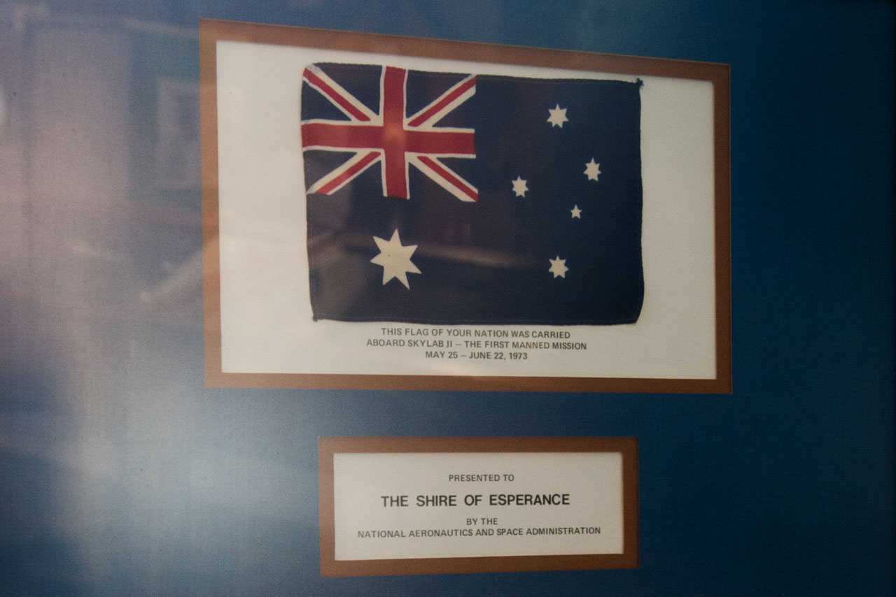 Australian Flag Flown on Sklylab