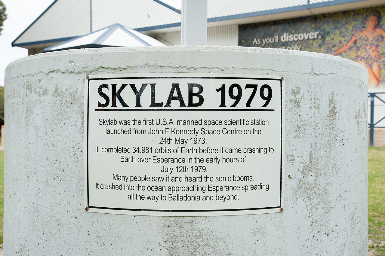 Skylab Plaque at Esperance Museum