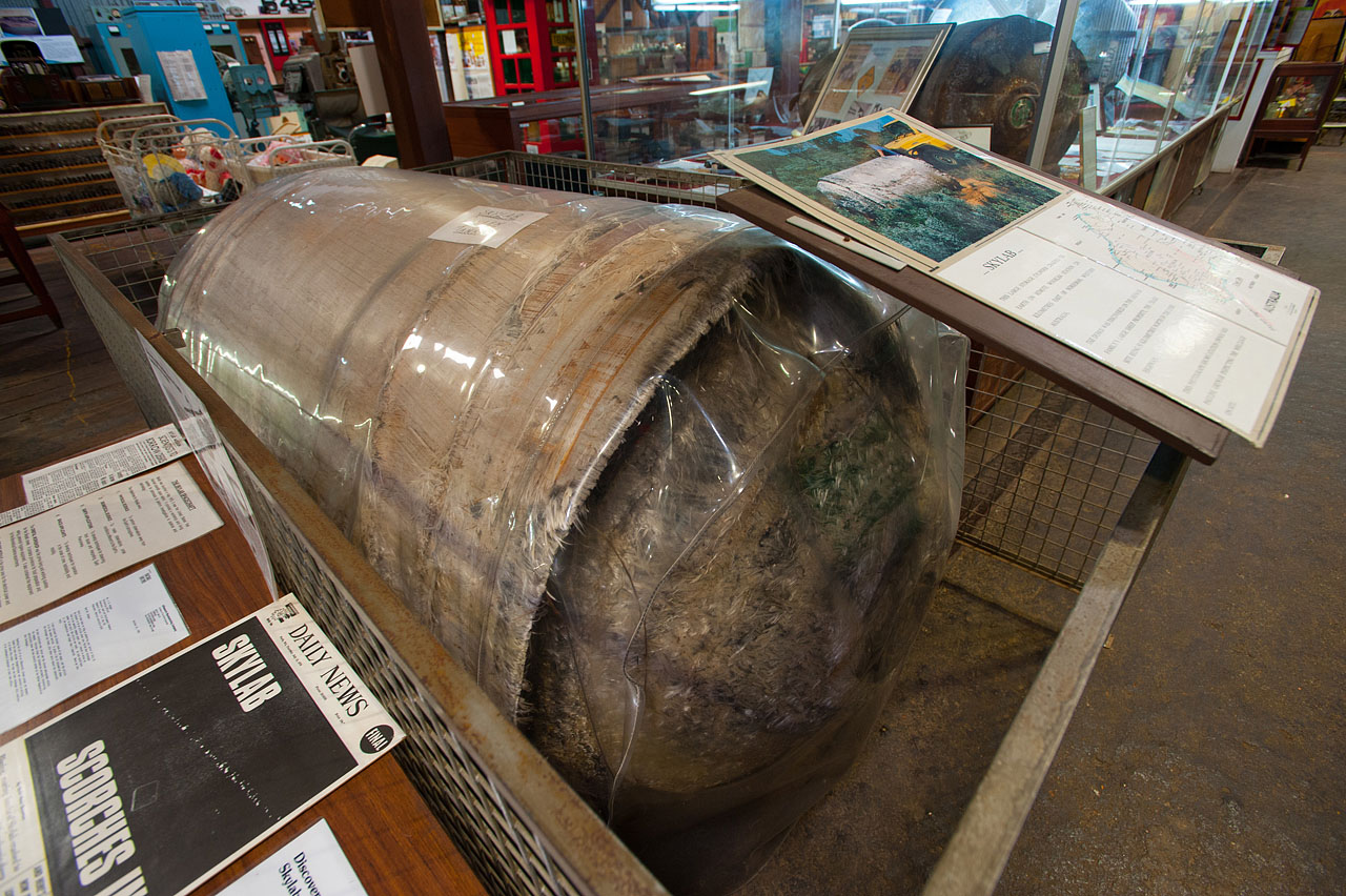 Oxygen Tank From Skylab Wrapped in Plastic