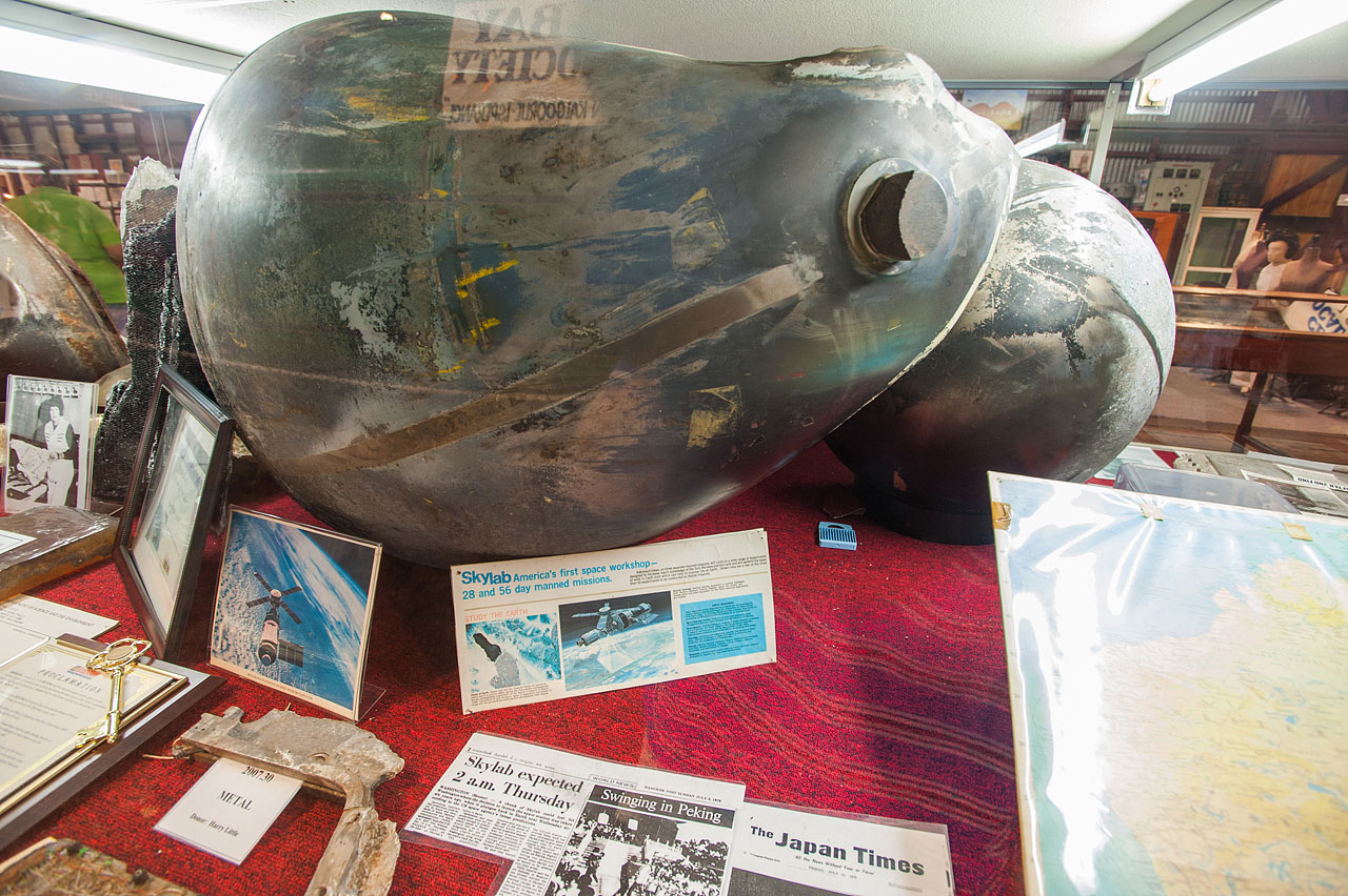 Titianium Nitrogen Sphere Recovered From Skylab Crash