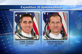 NASA astronaut Chris Cassidy and Tom Marshburn will perform an emergency spacewalk outside the International Space Station on May 11, 2013, to identify and perhaps fix an ammonia coolant leak.