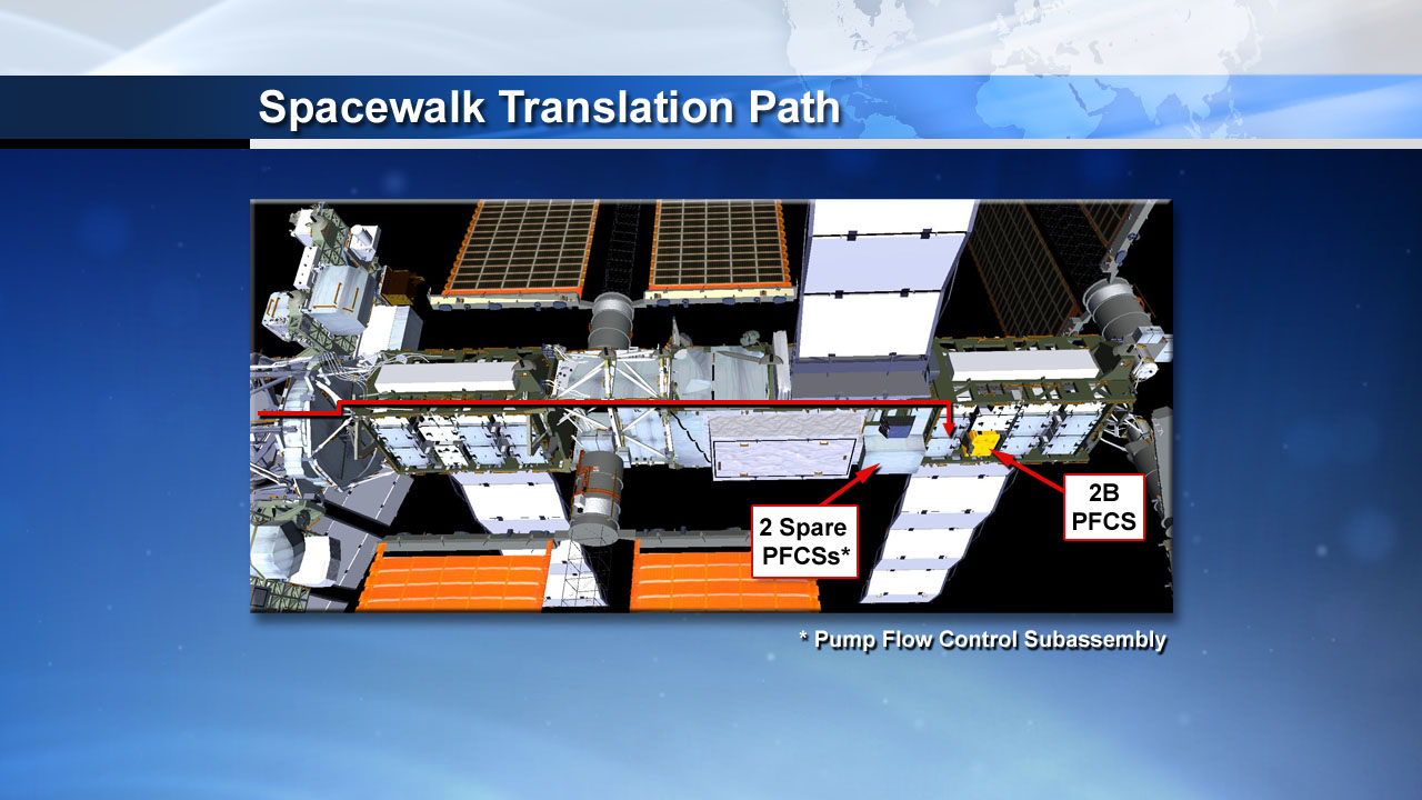 Emergency Spacewalk Astronaut Path: May 11, 2013