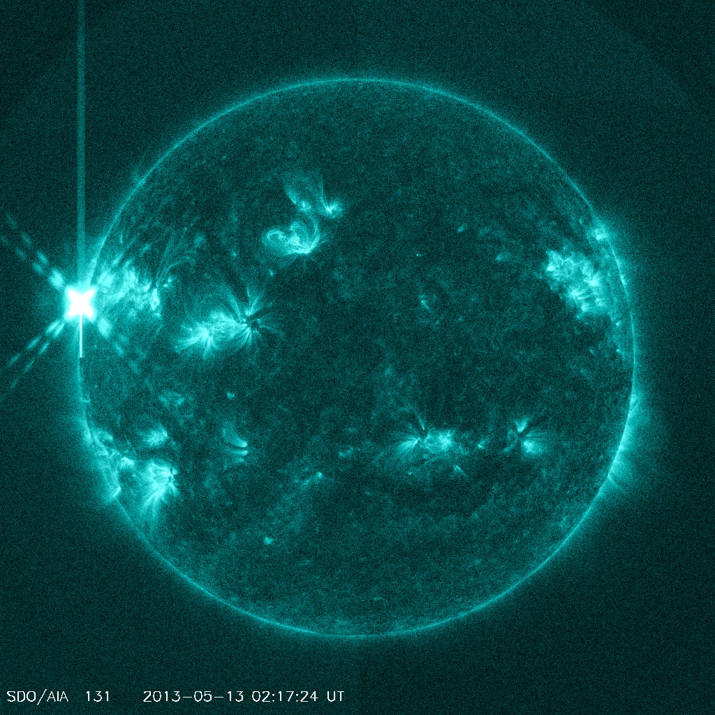 Sun Unleashes X1.7-Class Solar Flare: 5/12/13