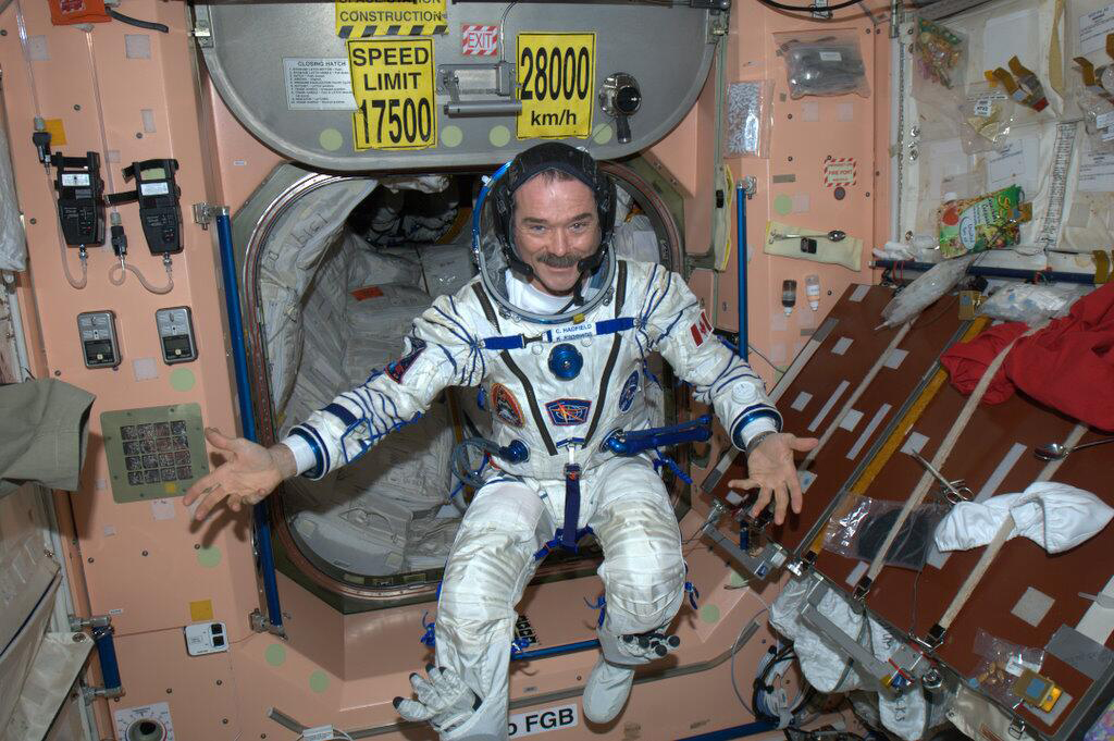 Astronaut Chris Hadfield in Sokol Spacesuit
