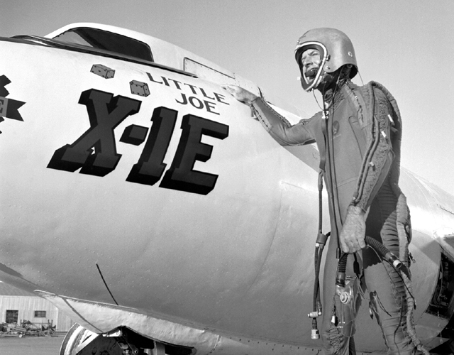 Space History Photo: Pilot Joe Walker with the X-1E