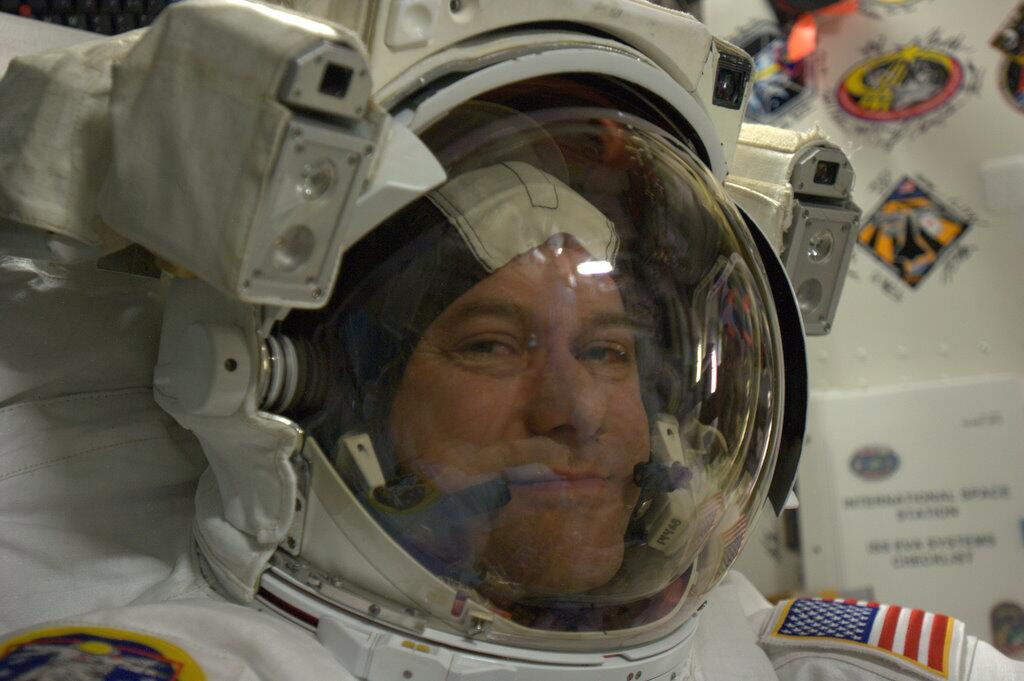 Astronaut Suited Up for Ammonia-Leak Spacewalk