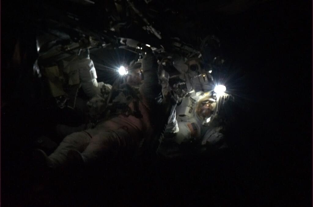 Astronauts 'Light the Universe' During Spacewalk