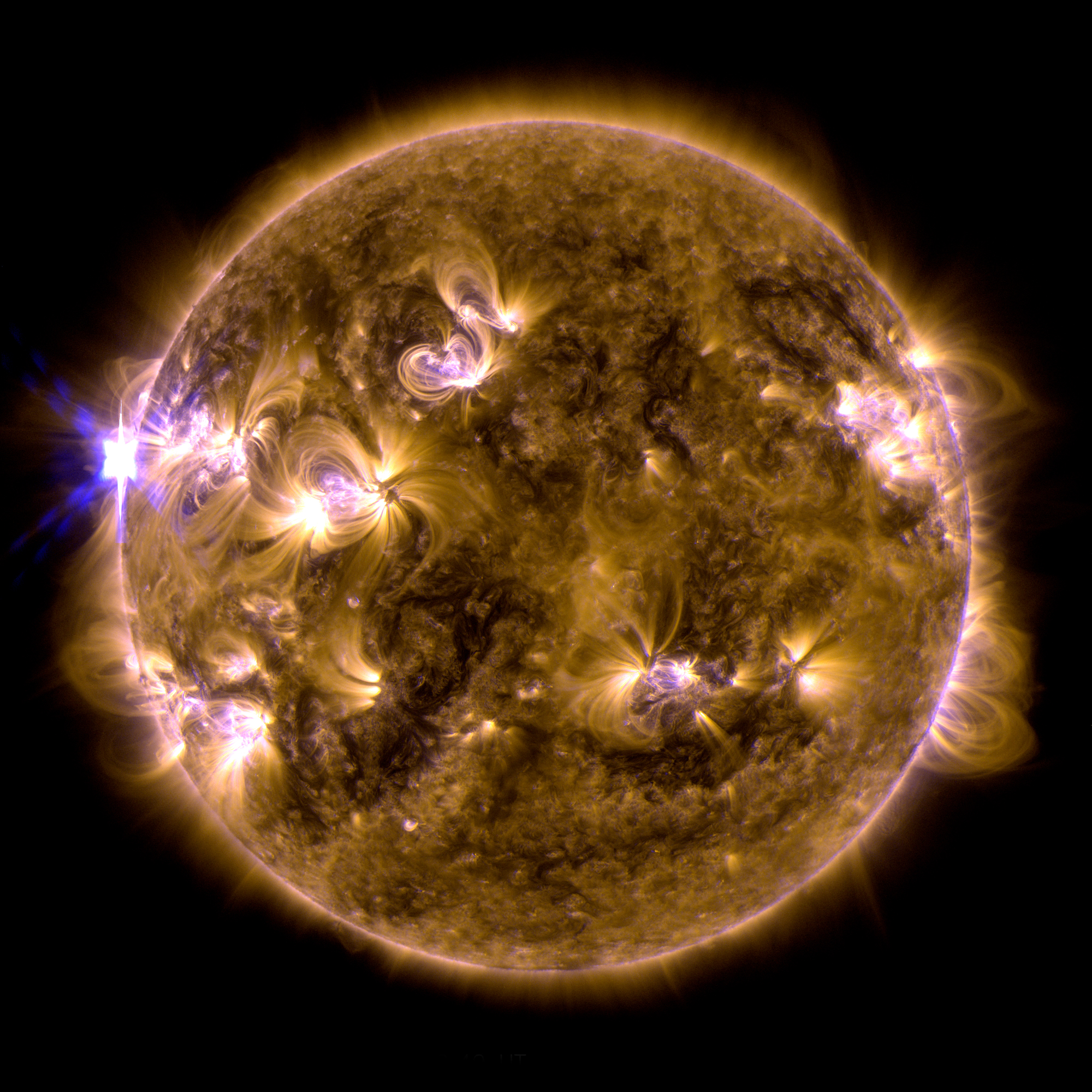 X1.7-Solar Flare of May 12, 2013: Full Disk
