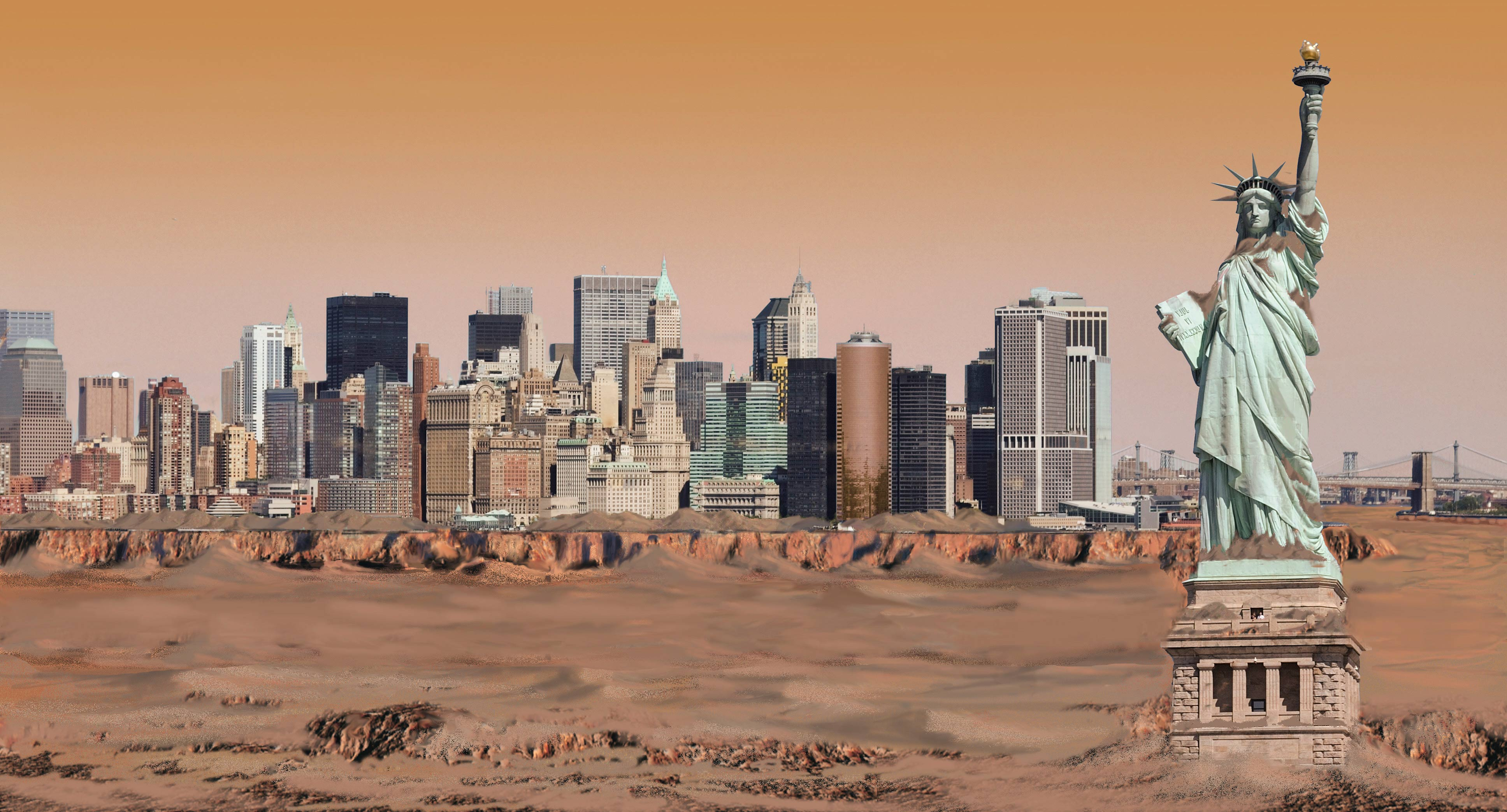 New York City Seen Through Mars' Atmosphere