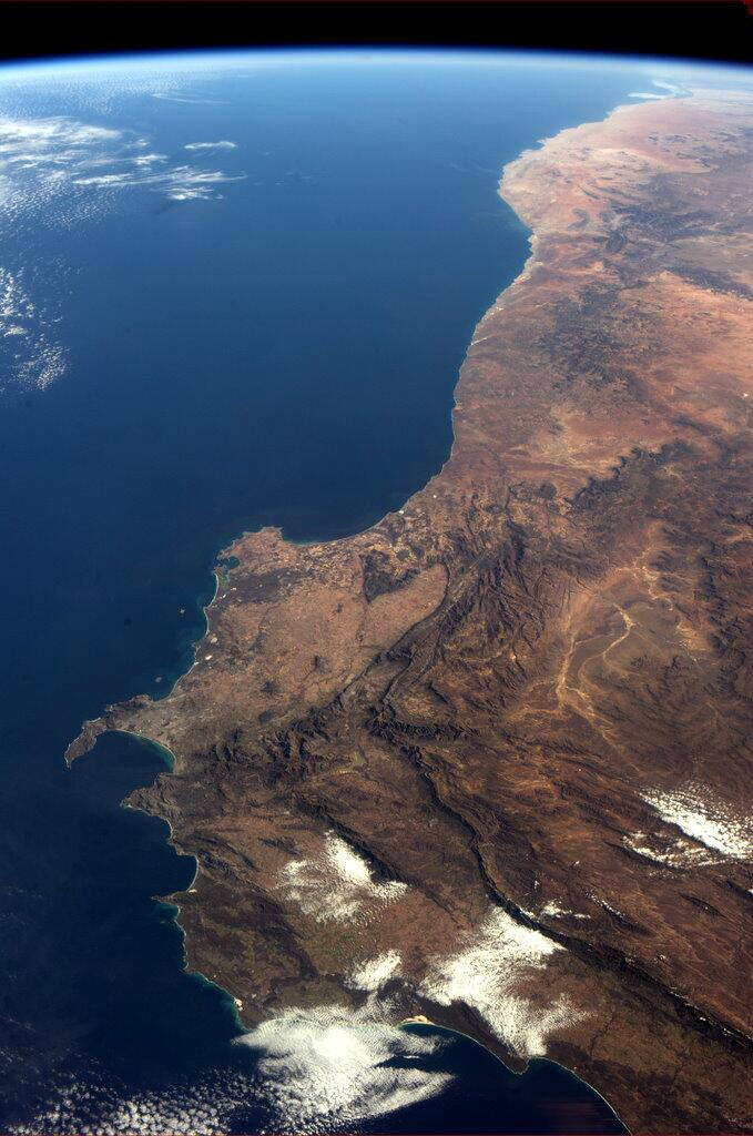 Southwest Corner of Africa From Space