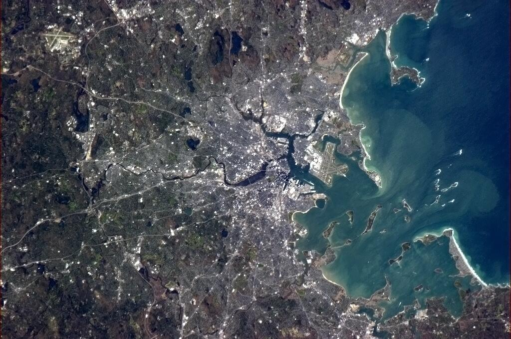 Boston From Space 'Beautiful Harbor City'