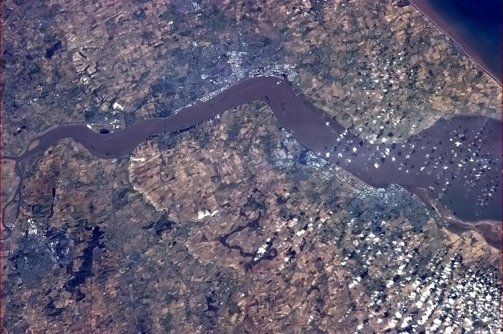 England's Humber Estuary from Space