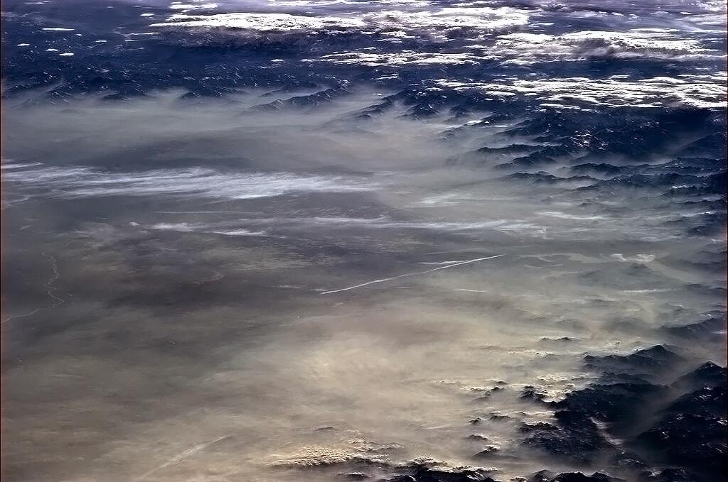 Hazy Alps Viewed From Space