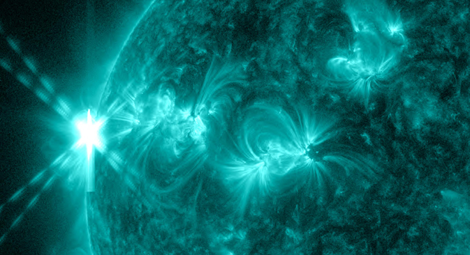 X2.8 Solar Flare of May 13, 2013: Close-Up