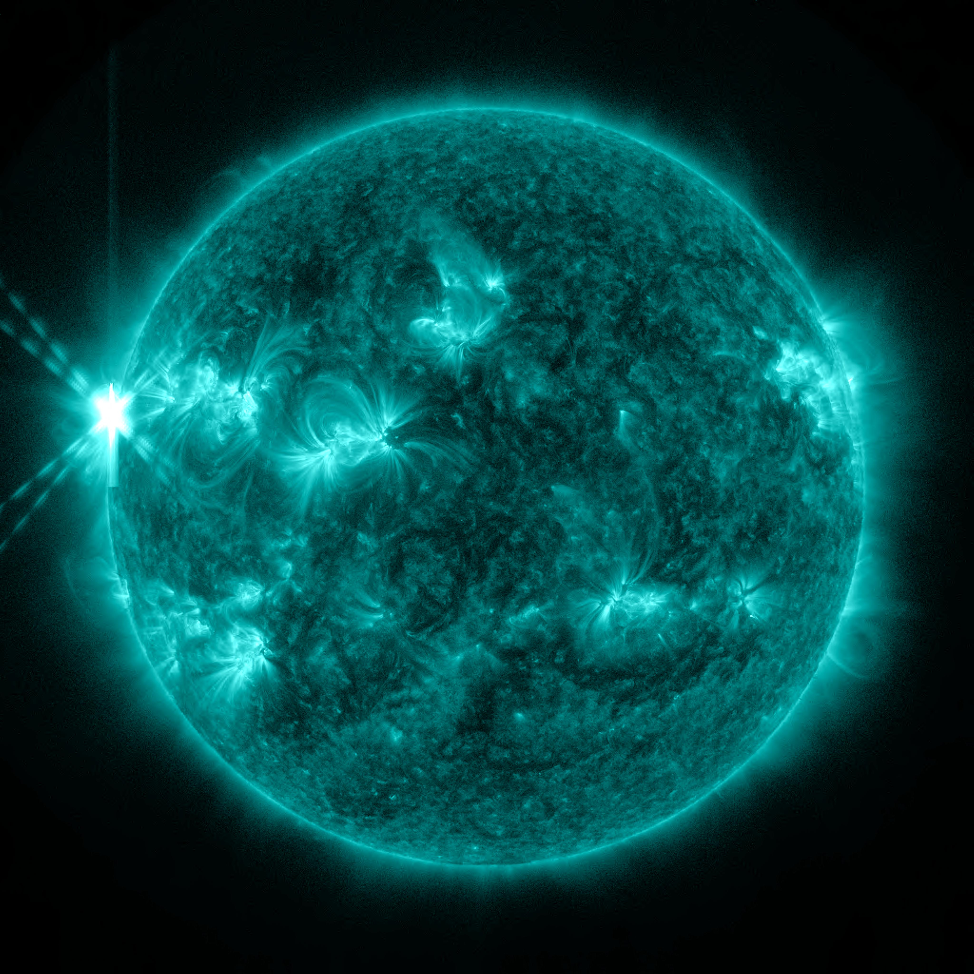 X2.8 Solar Flare of May 13, 2013: Full Disk