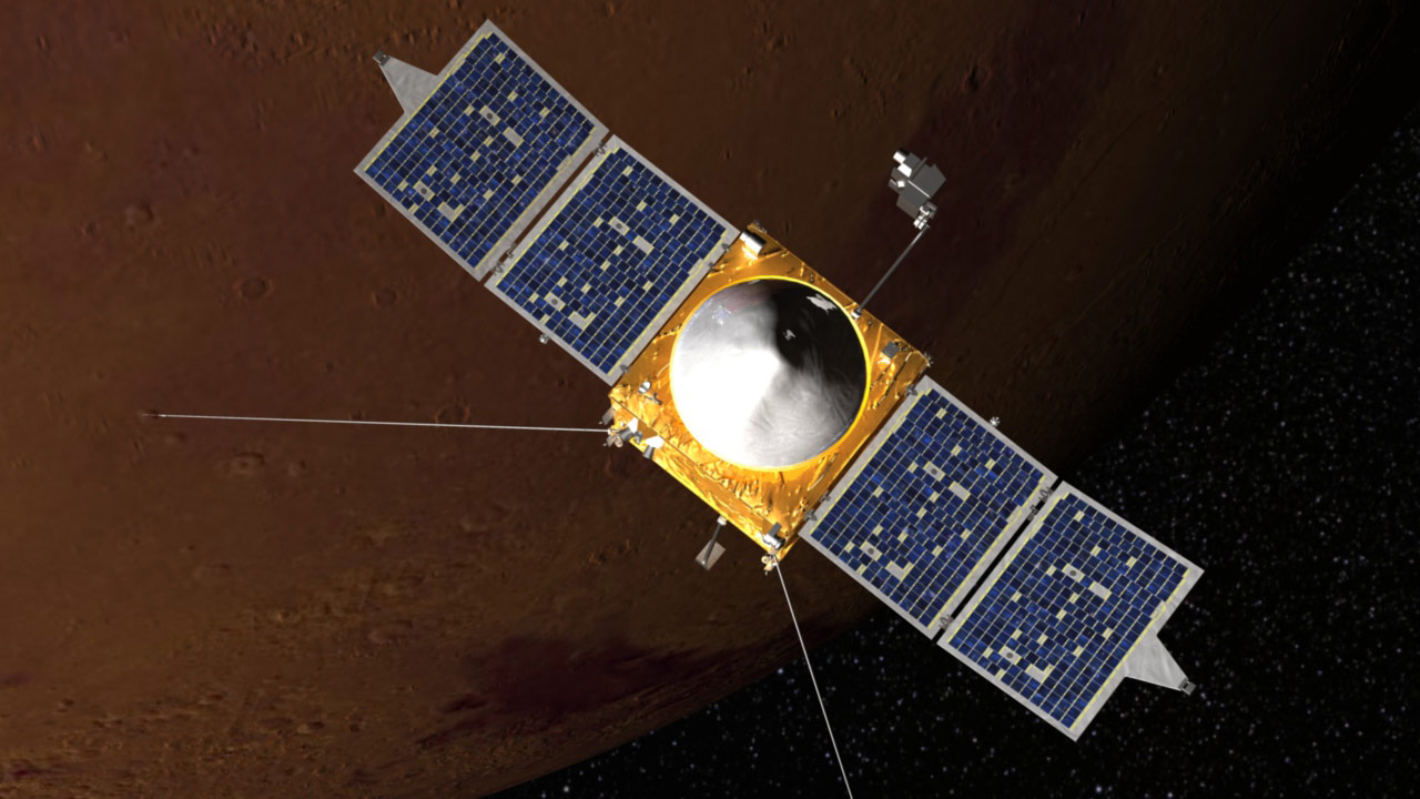 MAVEN Orbiting Mars
