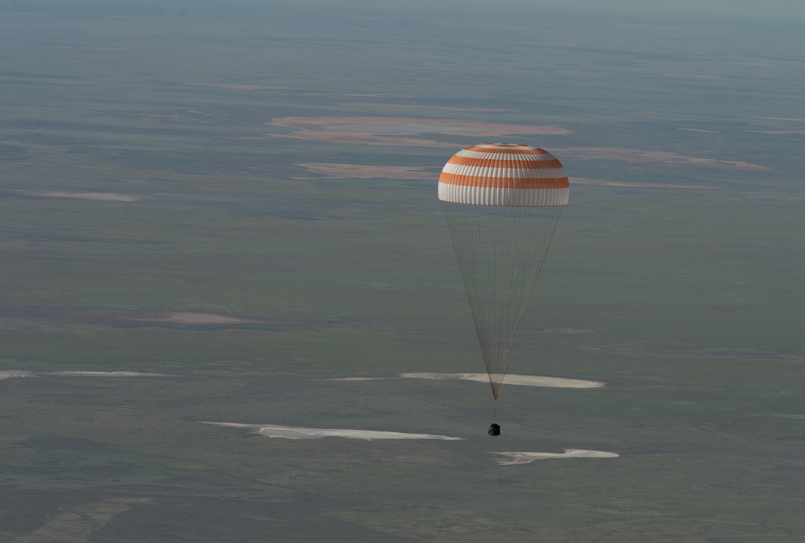 Soyuz TMA-07M Spacecraft Lands Over Kazakhstan