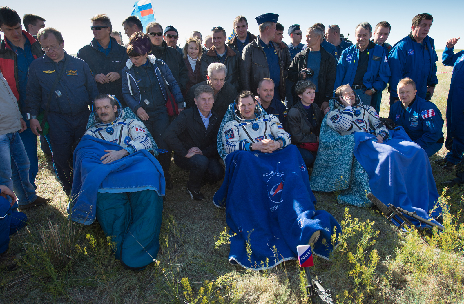 Astronauts Hadfield, Romanenko and Marshburn Return to Earth