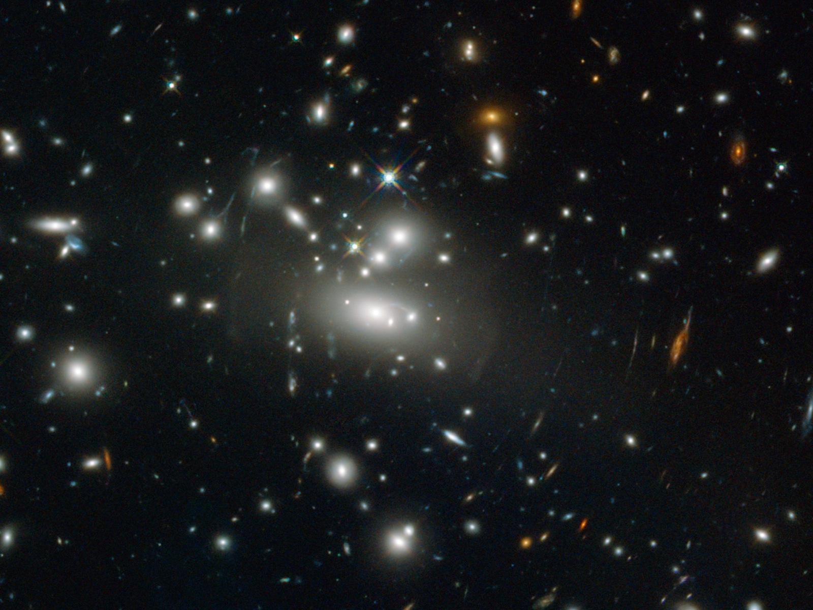 Galaxy Cluster Abell S1077 space wallpaper